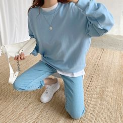 DEEPNY - Boxy-Fit Sweatshirt in 12 Colors
