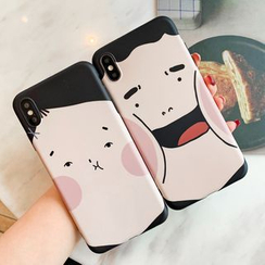 Sugar&Spice - Cartoon Face Print Mobile Case - iPhone XS Max / XS / XR / X / 8 / 8 Plus / 7 / 7 Plus / 6S / 6S Plus