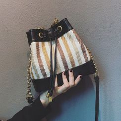 Mercillia - Striped Bucket Bag