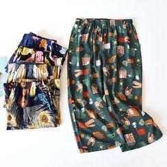MelMount - Printed Cropped Lounge Pants