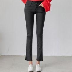 PIPPIN - Fray-Hem Semi Boot-Cut Pants