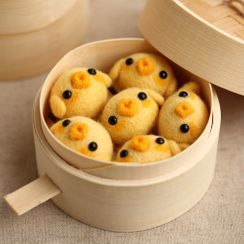 Crockett - Chicken Needle Felting Kit  / Dim Sum Steamer Basket