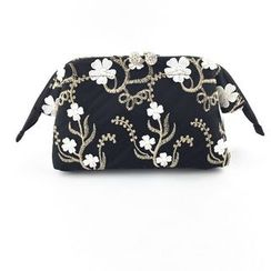 TIDBIT - Embroidered Cosmetic Bag