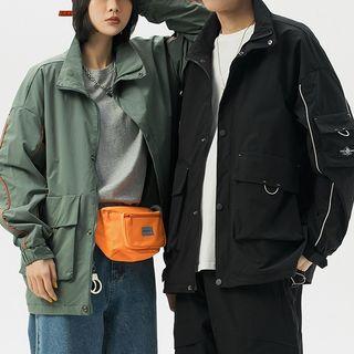 Phoebus - Contrast Trim Zip Jacket