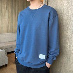 Andrei - Lettering Applique Sweatshirt
