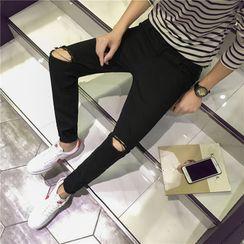 WidoWilder - 破洞窄身牛仔褲