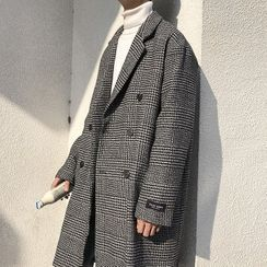 Andrei - Plaid Double-Breasted Coat