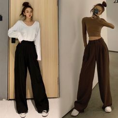 Heartsily - High-Waist Wide-Leg Pants