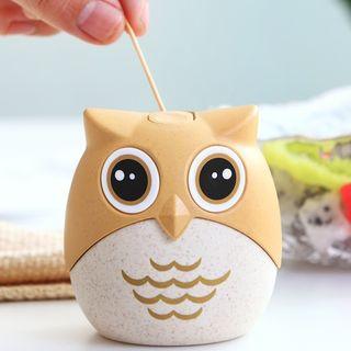 Worthbuy - Owl Plastic Automatic Toothpick Holder