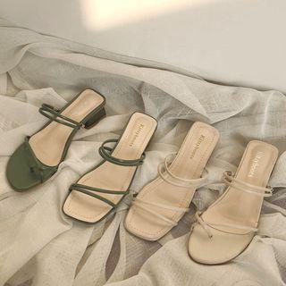 COCUNA - Block Heel Sandals