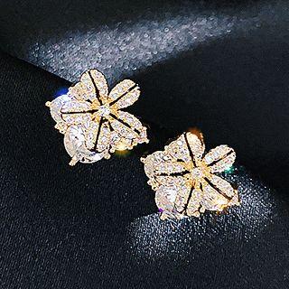 Catalunya - Rhinestone Flower Stud earring