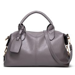 Annmuu - Faux Leather Tote Bag
