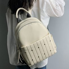 della renna - Studded Faux Leather Backpack