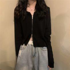 Luminato - Cropped Knit Hoodie