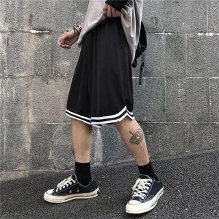 Koiyua - Contrast Trim Wide-Leg Shorts