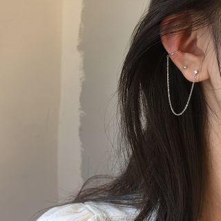 Honne - 925純銀鏈條耳環