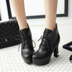 Pretty in Boots - High Heel Ankle Boots