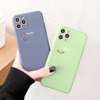 Mobby - Smiley Print Mobile Case - iPhone 11 Pro Max / 11 Pro / 11 / XS Max / XS / XR / X / 8 / 8 Plus / 7 / 7 Plus / 6s / 6s Plus