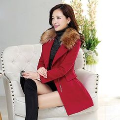Romantica - Faux-Fur Collar Coat
