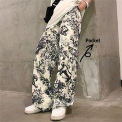 Banash - 印花直筒裤