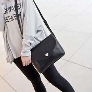 Golden Kelly - Faux Leather Shoulder Bag