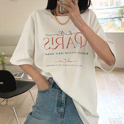 DEEPNY - 'PARIS' Napped Boxy T-Shirt