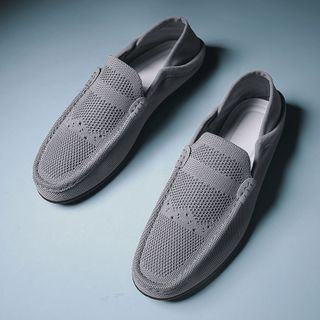 BELLOCK - 网纱莫卡辛鞋