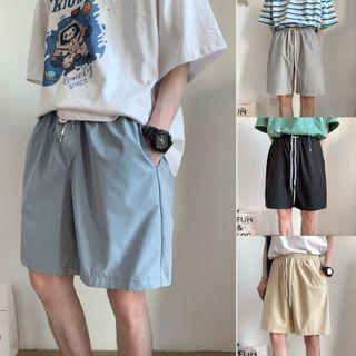 Freehop - High-Waist Drawstring Shorts