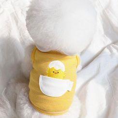 Bixin - Animal & Egg Applique Collared Pet Top
