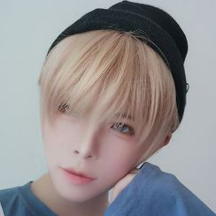 Aynu(アイヌ) - Short Full Wig - Straight Cut / Hair Care Set