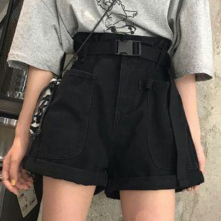 Laurinda - Pocket Detail Wide-Leg Shorts