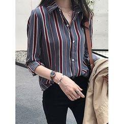 Chubchubs - 長袖條紋襯衫