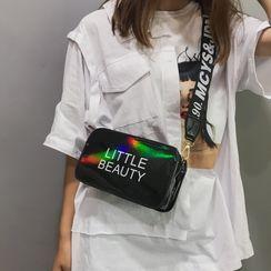 Perlin - Lettering Strap Zip Crossbody Bag