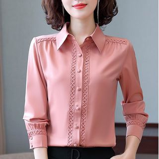 In the Mood - Lace Trim Shirt