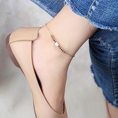 Tenri - Heart Stainless Steel Anklet