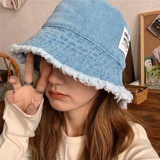 FROME - Distressed Denim Bucket Hat