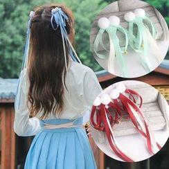 DEBE - Retro Bobble Ribbon Bow Hair Clip