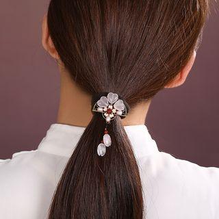 Gangnam - Retro Bead Flower Hair Tie