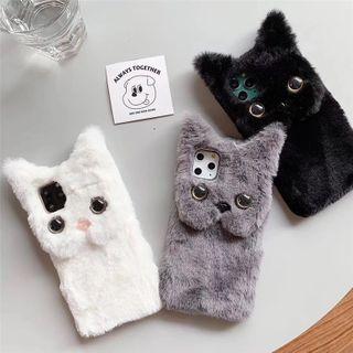 Edgin - Faux Fur Cat Phone Case - iPhone 7 / 7 Plus / 8 / 8 Plus / X / XS / XS Max / XR / 11 / 11 Pro / 11 Pro Max