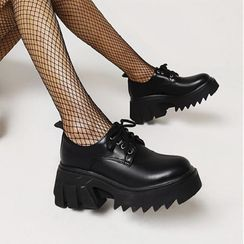 JY Shoes(JYシューズ) - Platform Lace-Up Shoes
