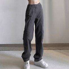 Sosana - Low Waist Pocket Cargo Pants