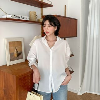 MERONGSHOP - Plain Colored Shirt