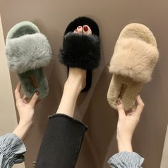 Weiya(ウェイヤ) - Furry Home Slippers