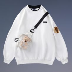 One Studio - Mock Two-Piece Hoodie With Bear Bag