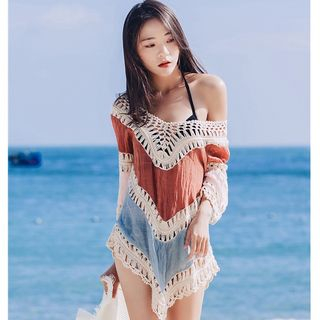 Moanum - Color Block Beach Cover-Up