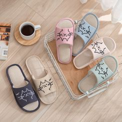 Furana - Cat Embroidered Slippers