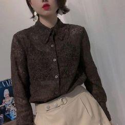 Koolgoon - Long-Sleeve Lace Shirt