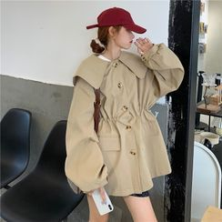 Guajillo - Single Breasted Collared Trench Coat