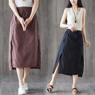 RAIN DEER - Plain Strap Semi Skirt