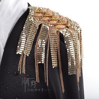 Trend Cool - Jeweled Rhinestone Tassel Badge